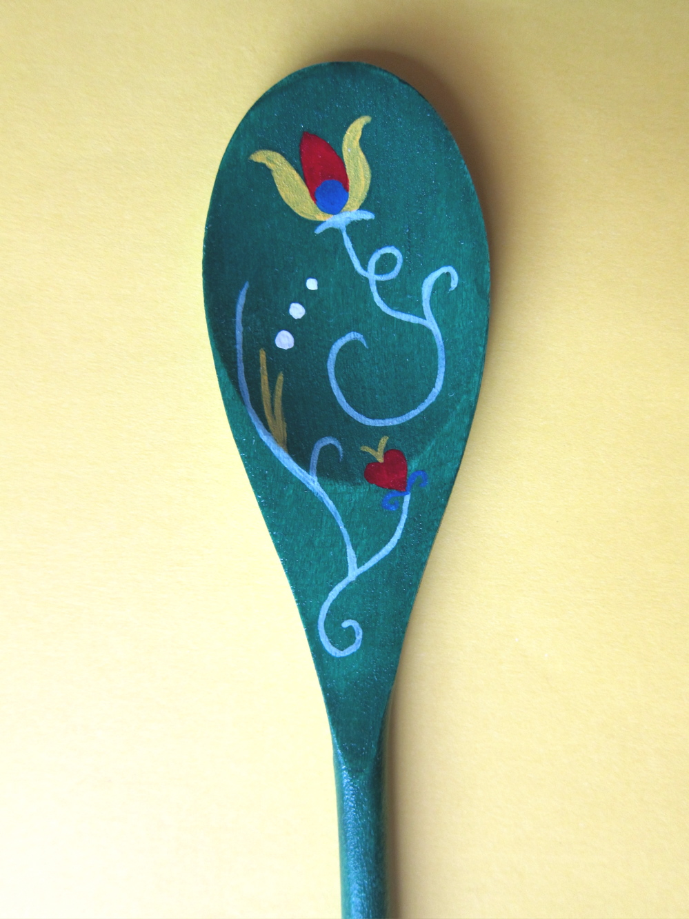 Craft project slavic styled wooden spoons margarete miller for Wooden spoons for crafts