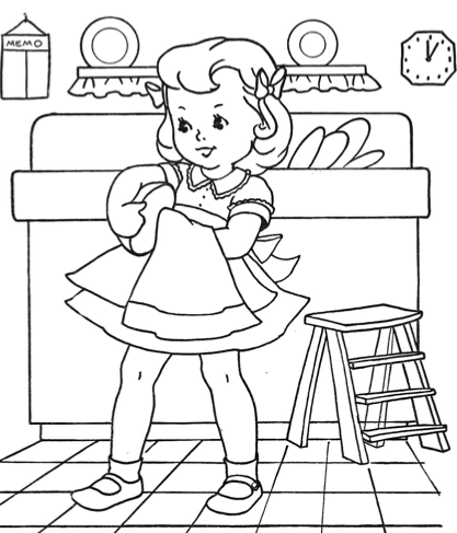 Coloring Old Fashion Children On Pinterest Coloring Vintage Coloring Books