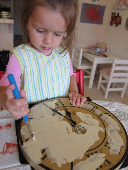 painting the clock