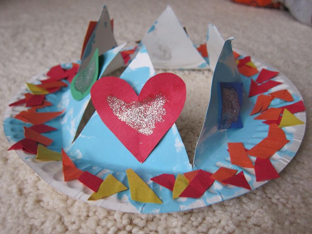 paper plate crown2
