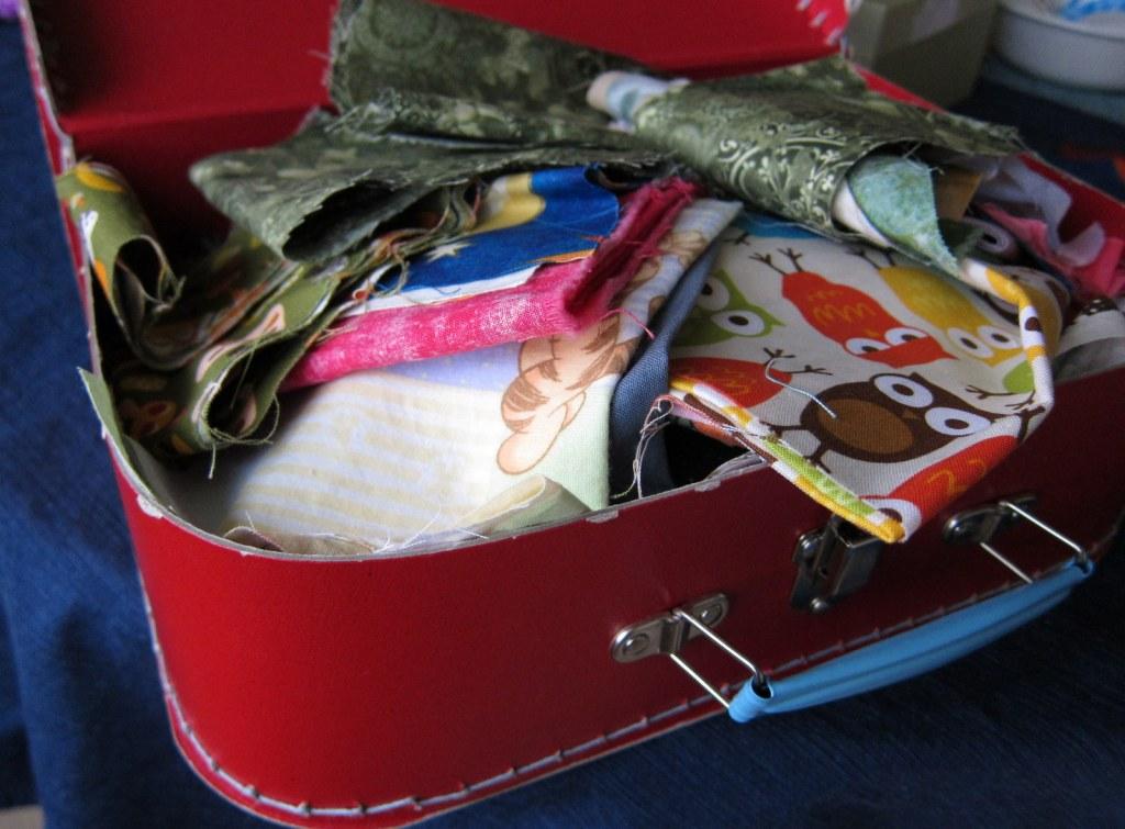 suitcase of scraps
