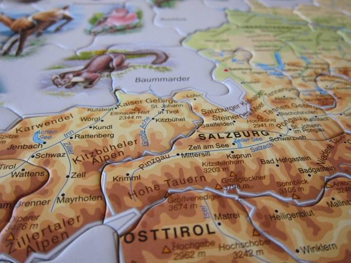 Austria map puzzle