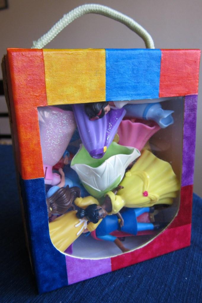 Decoupage shoe box