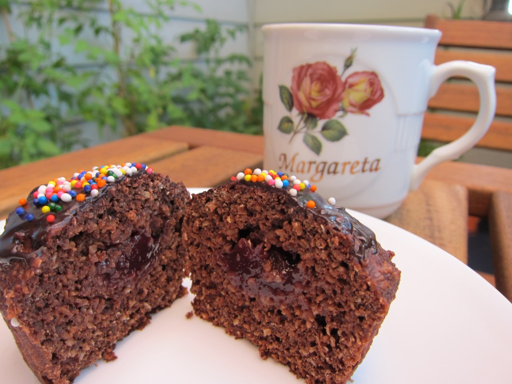 breakfast chocolate bran muffins