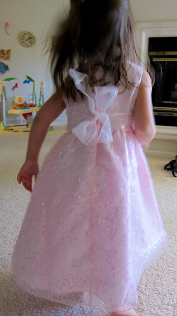 new pink dress - back