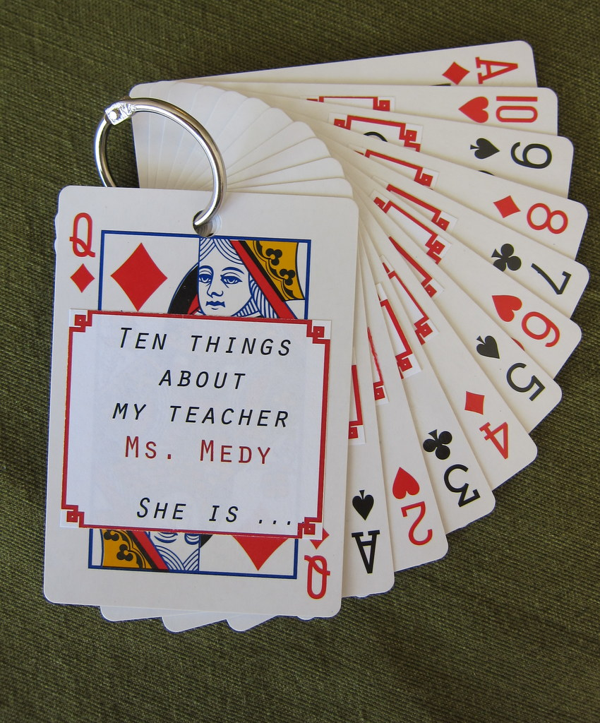teacher deck cards