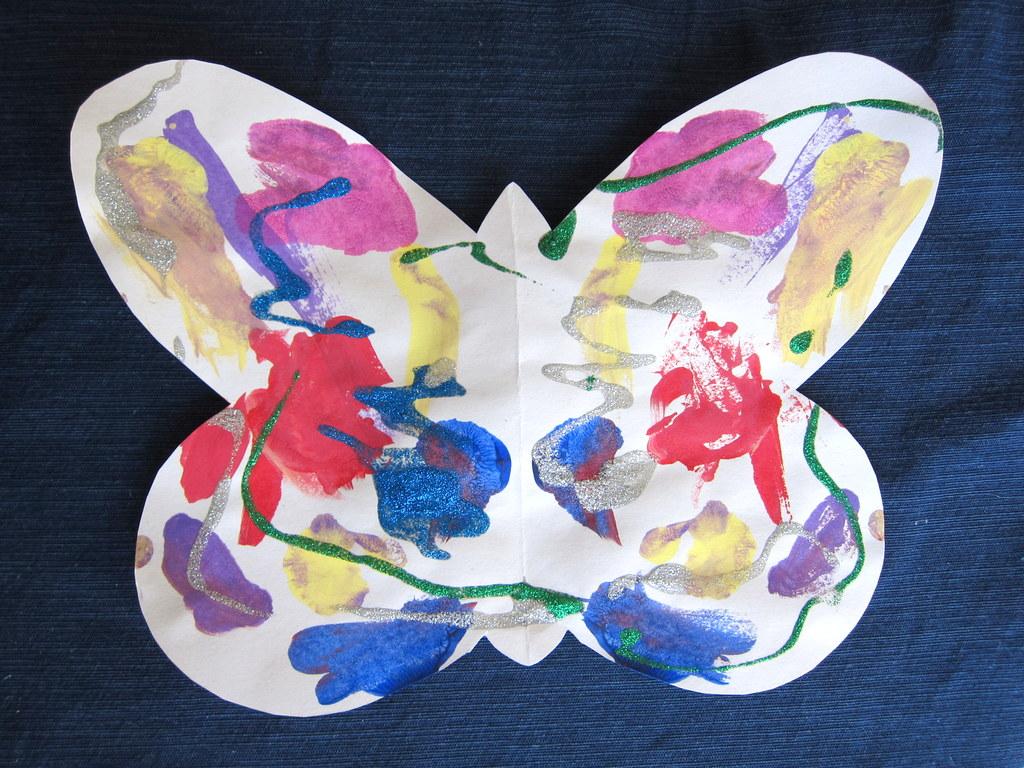 glitter glue butterfly