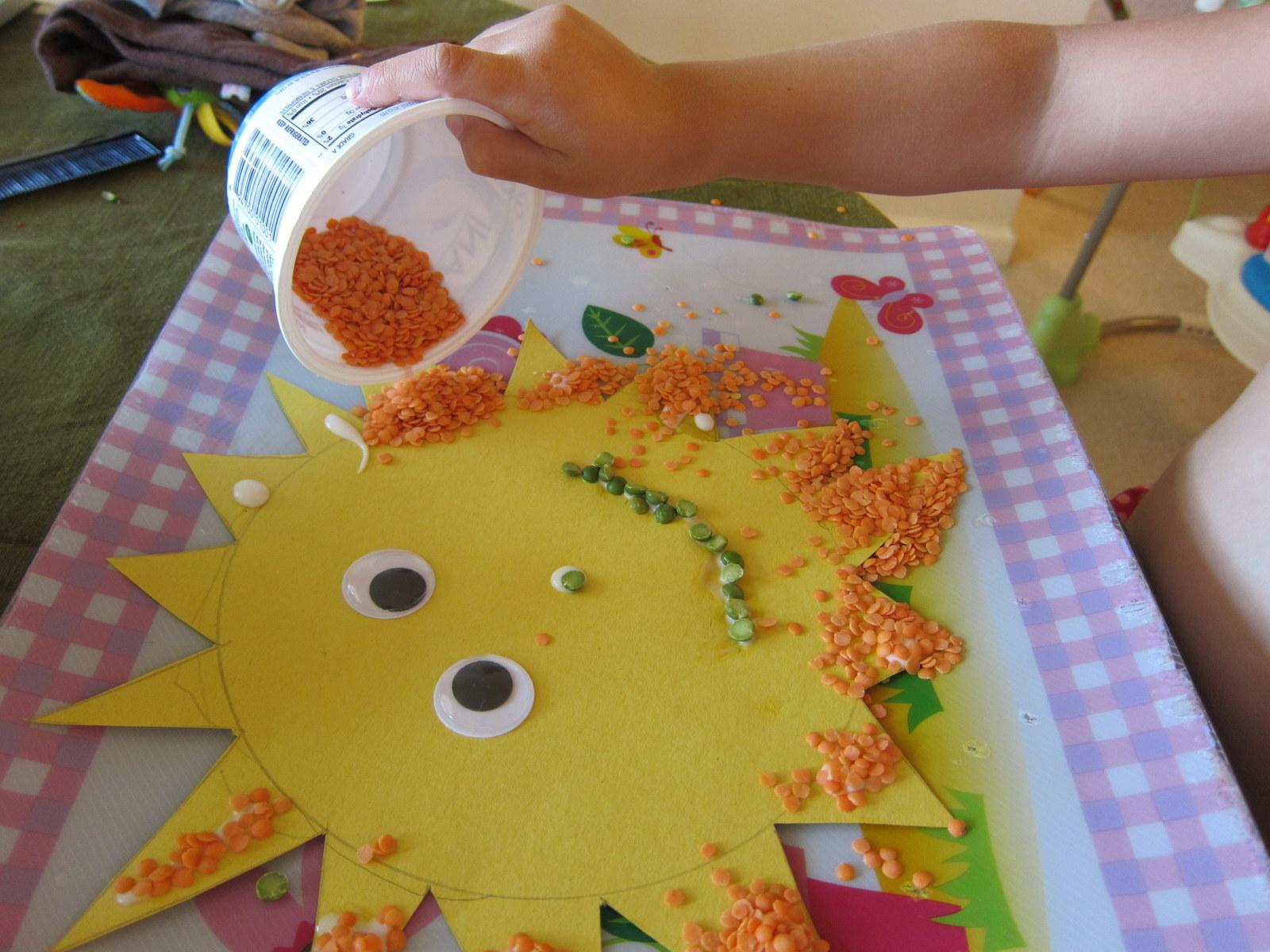 Kids Project Lentil Sun Margarete Miller