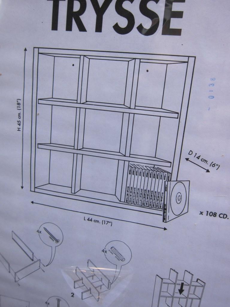 Trysse shelf