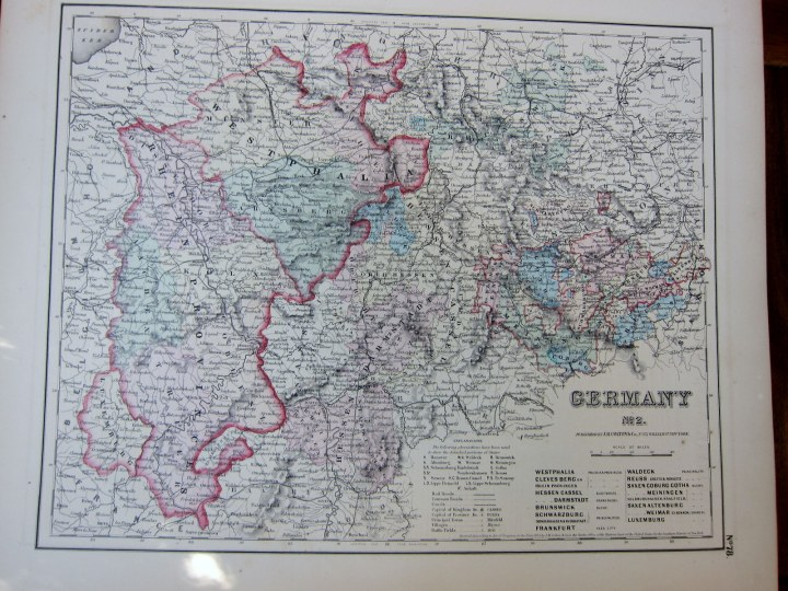 Germany map 1855