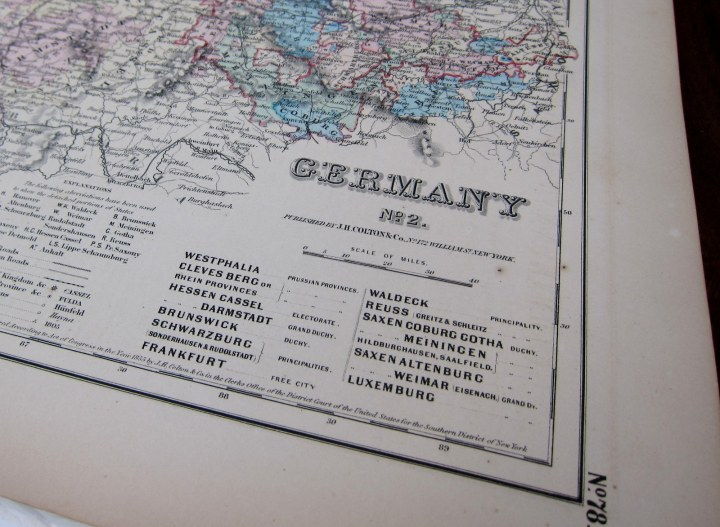 Germany map 1855 (2)
