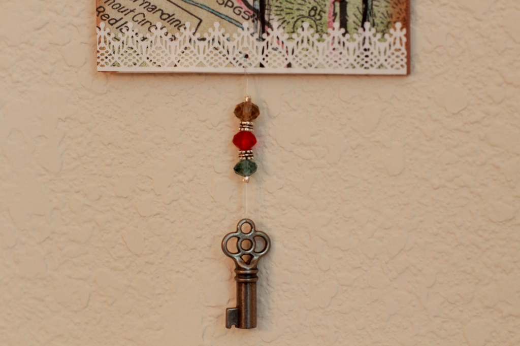 key with beads