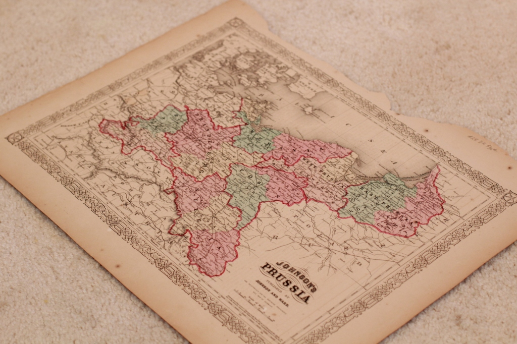 Map of Prussia 1865