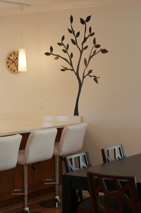 tree decal dining area