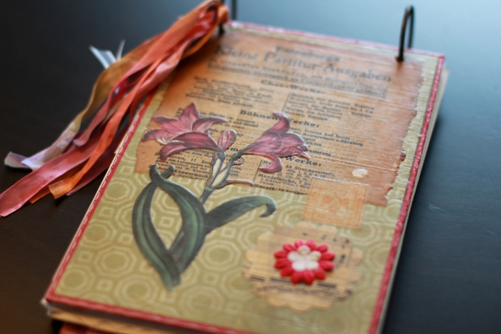 beeswax collage journal