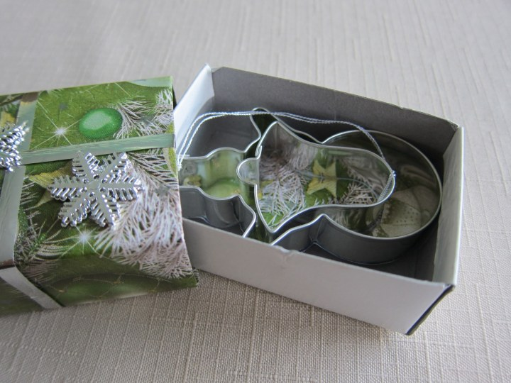 two ornaments in a box