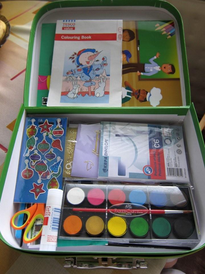 craft suit case - inside