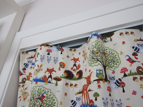 curtains at the top