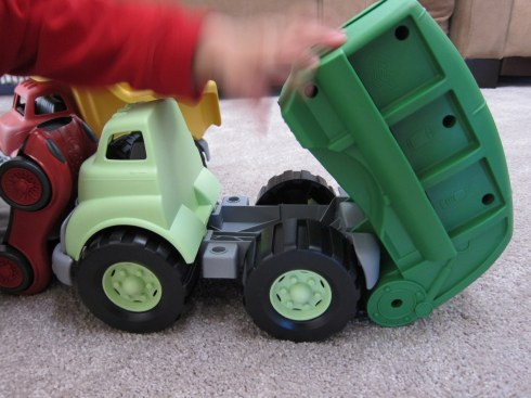 green toy truck