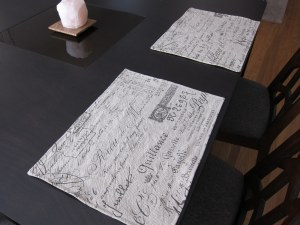 Document fabric placemats