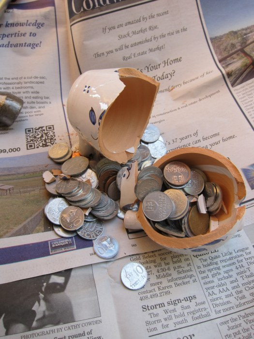 coins in a bank