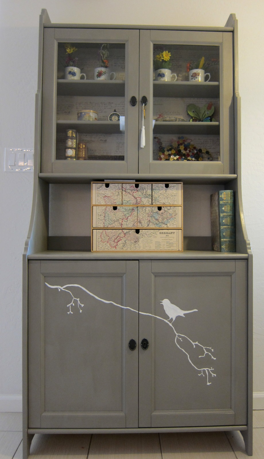 A hutch cabinet for the kitchen nook the mellow miller - Meuble buffet ikea ...