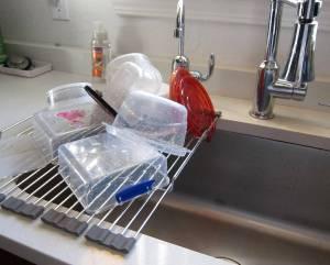 fold up dish rack