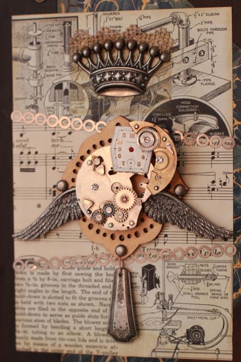 metal collage art