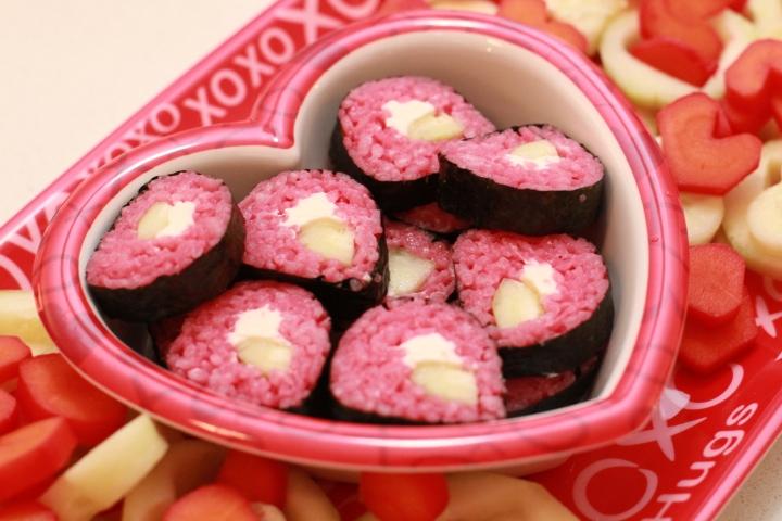 valentine sushi