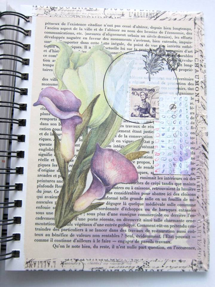 collage art floral