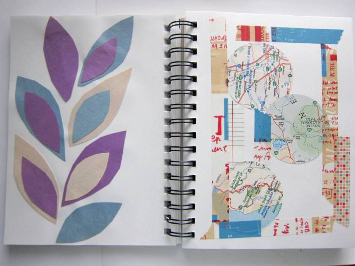 collage art maps