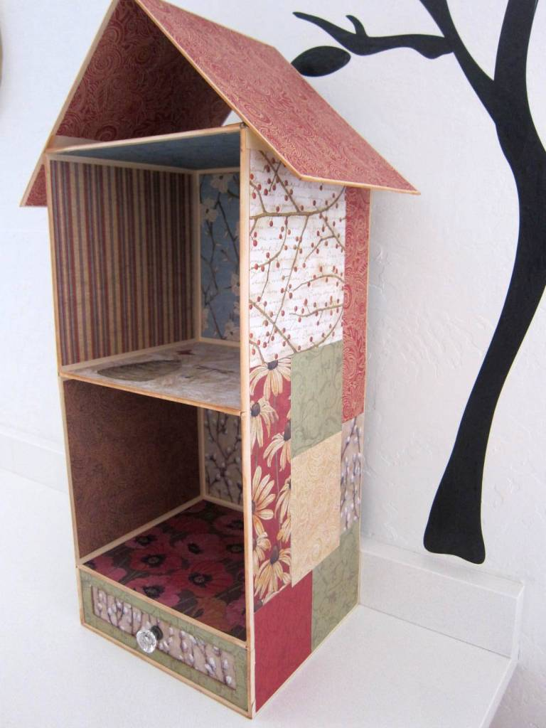 birdhouse wall shelf