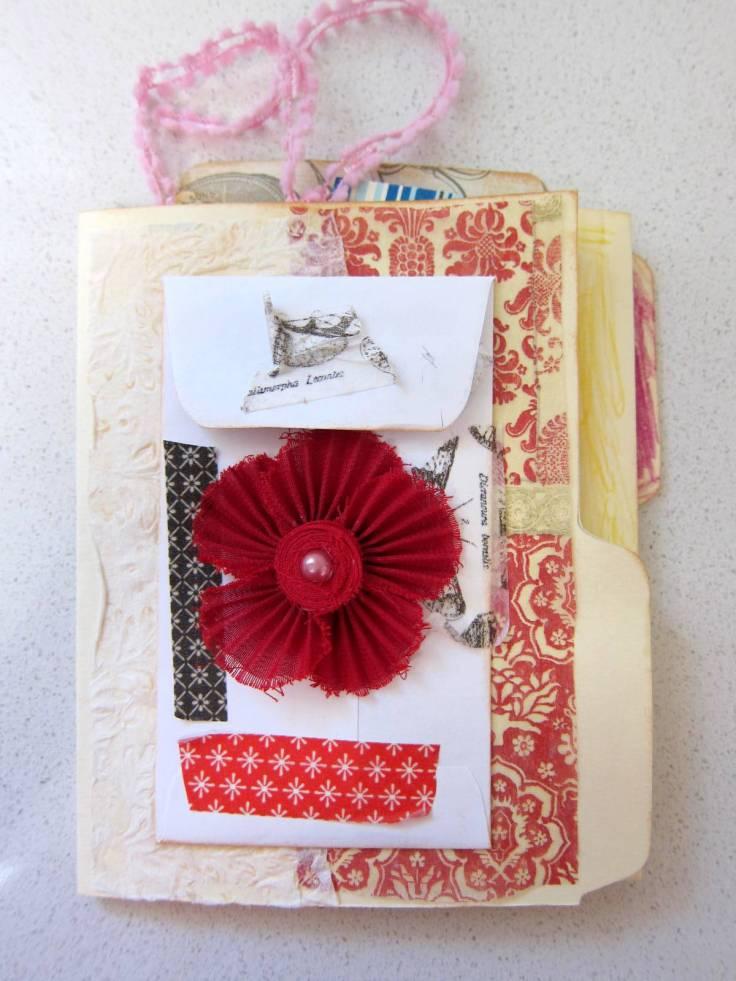 manila folder mini album