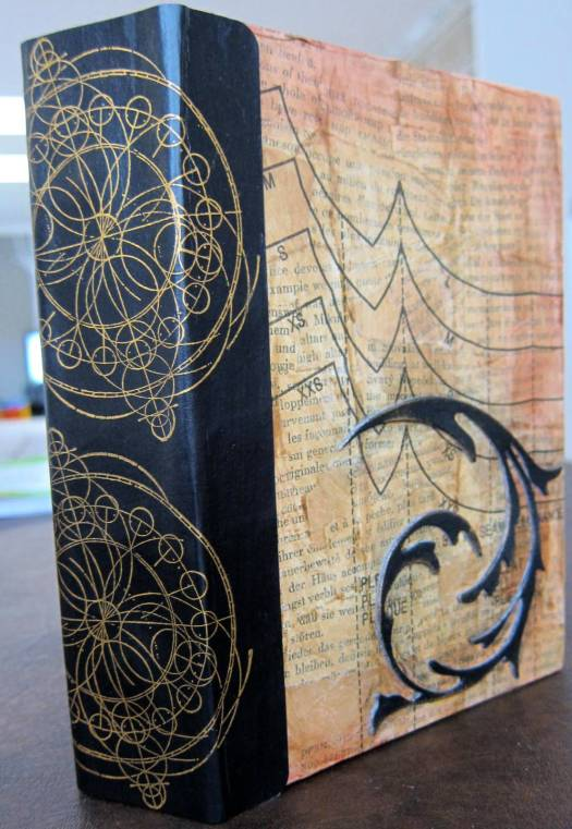 copper spine on journal