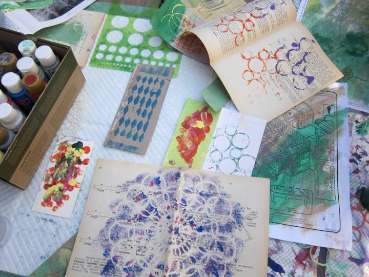 stenciling with paints