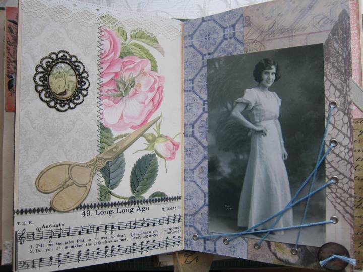 Vintage memory book of my grandmother