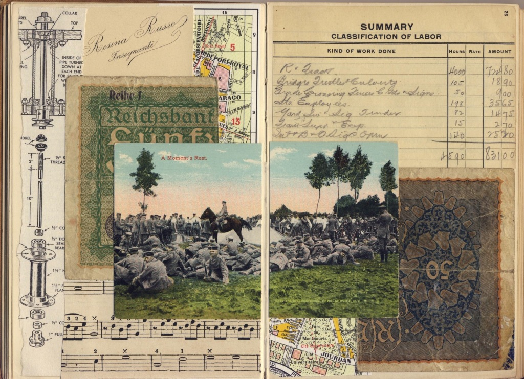 WWI soldiers collage