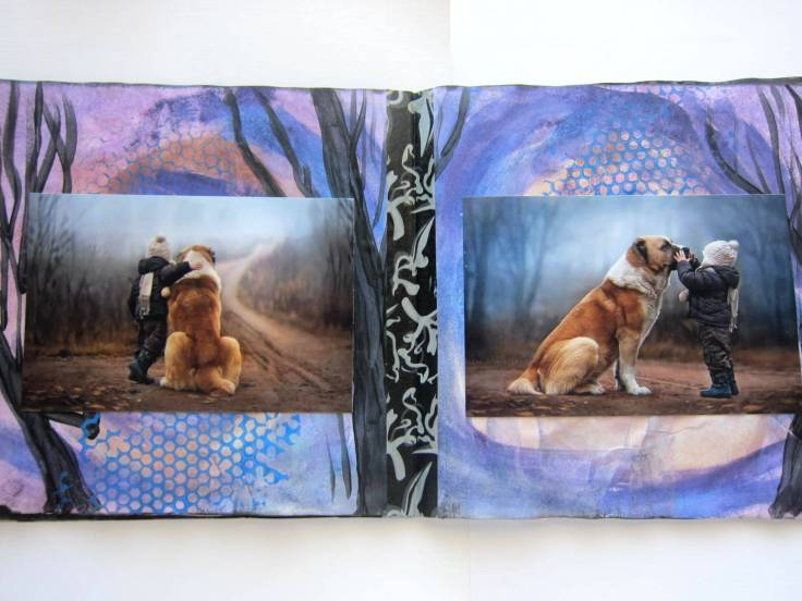 paint collage journal