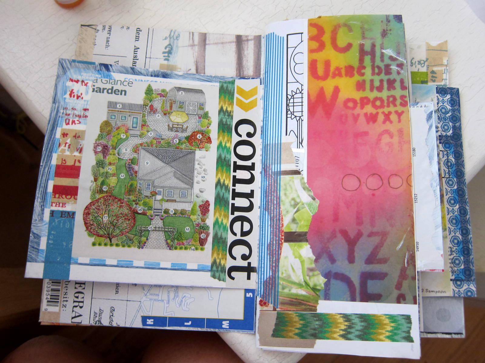 collaging junk mail jj 1