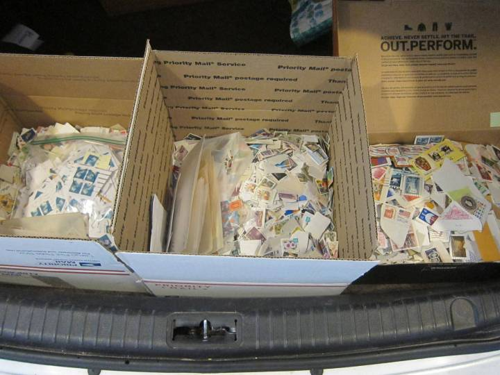 boxes of stamps