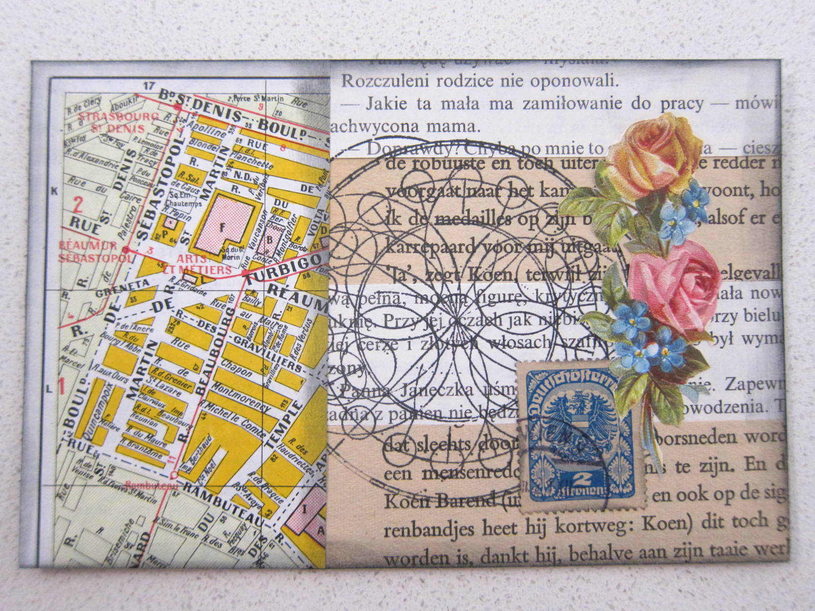 map post card