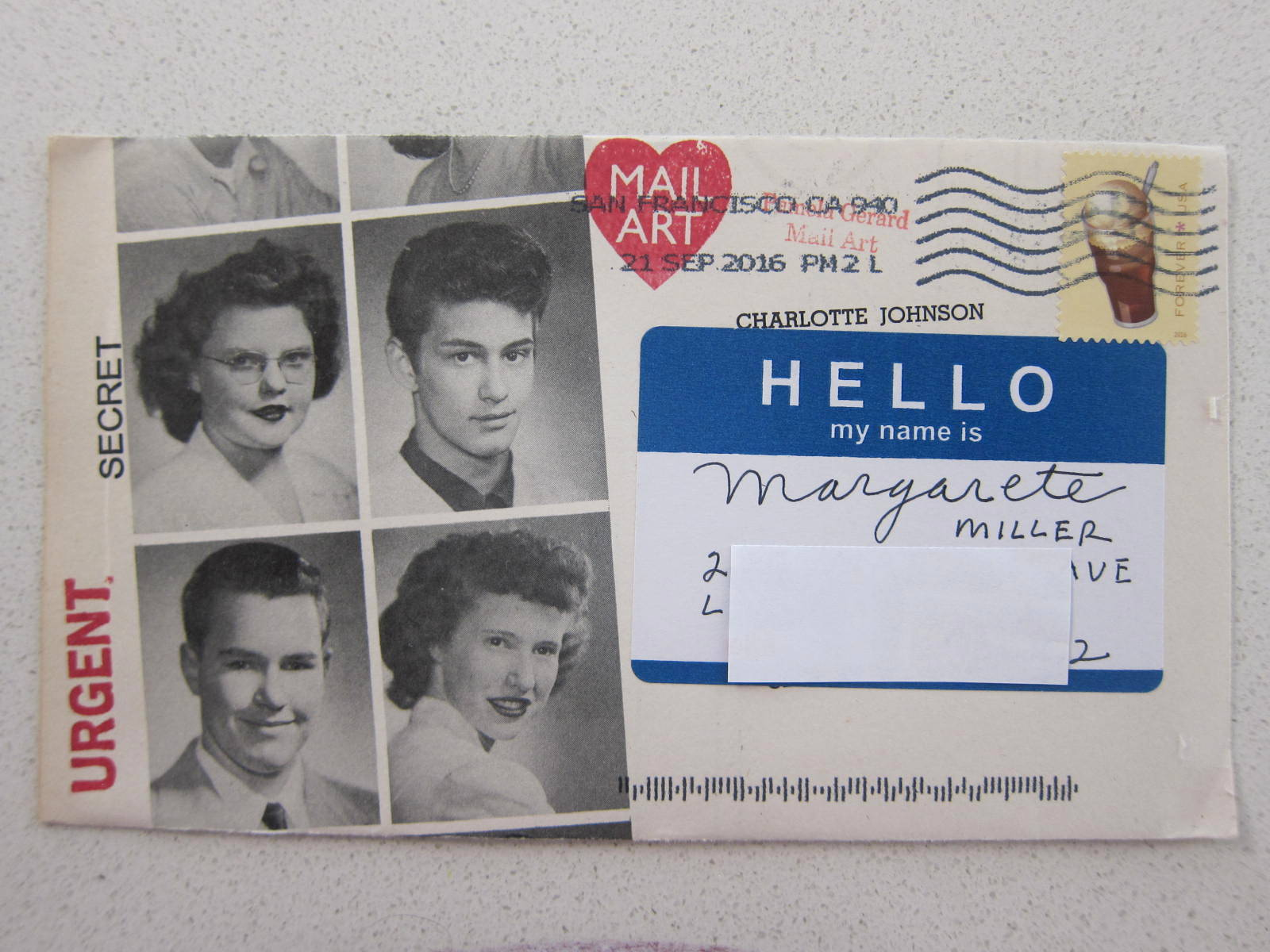 yearbook page envelope