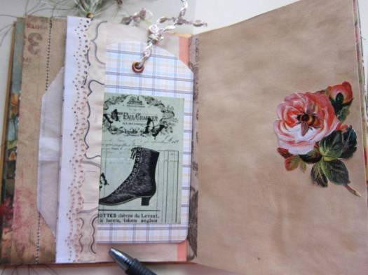 junk journal with space for writing