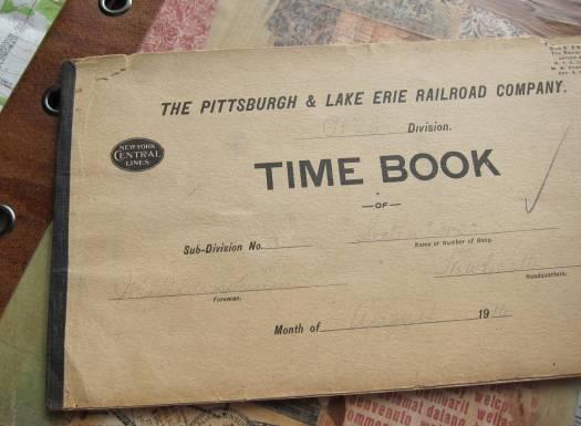 Railroad time book 1910
