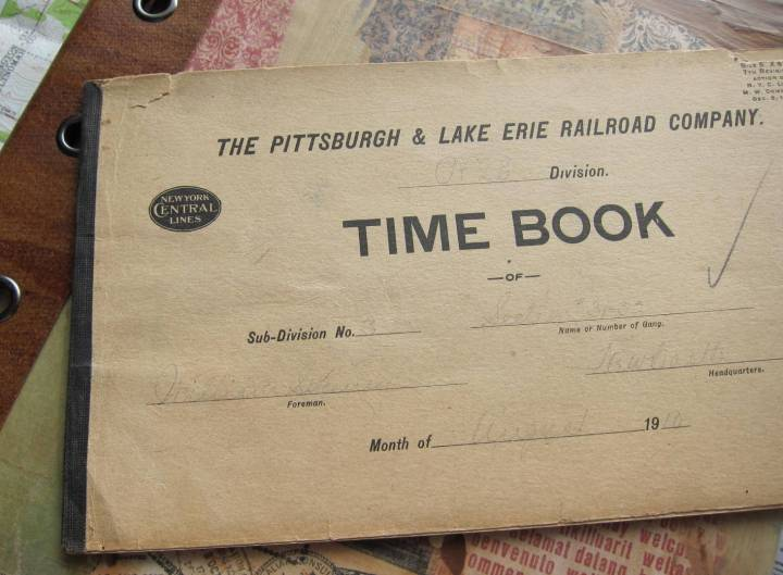 Railroad time book 1910