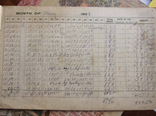 Time book page 1903