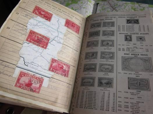 Railroad time book collage
