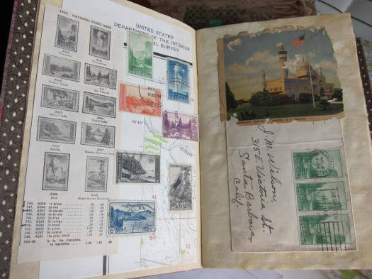National parks stamp collage