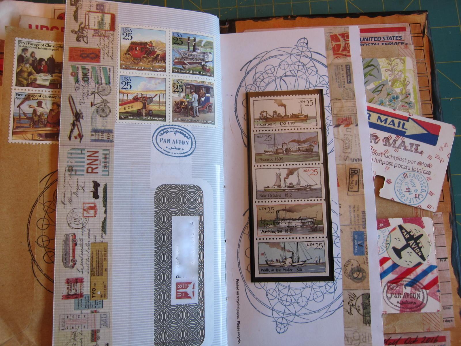 mail art junk journal 1