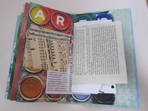 kids junk journal inside